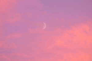 Moon at Sunset 2